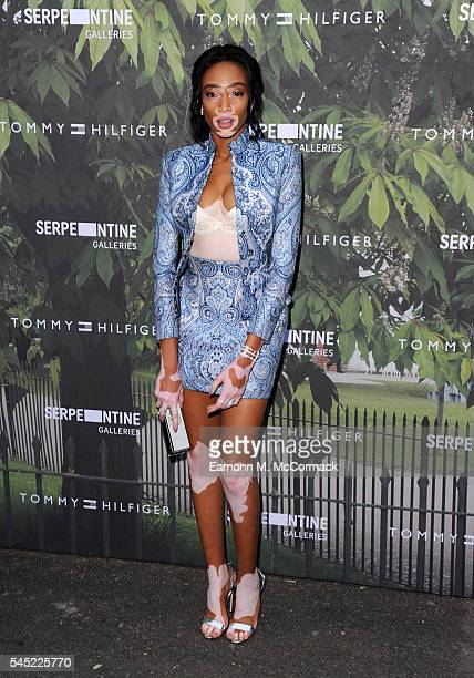 Winnie Harlow arrives for the Serpentine Summer Party at The Serpentine Gallery on July 6 2016 in London England