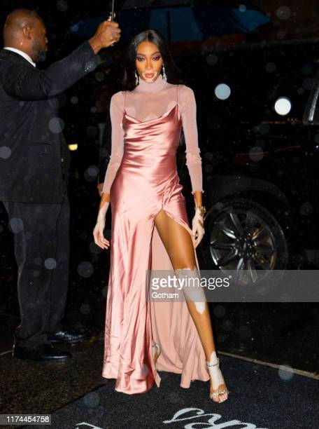 Winnie Harlow at the launch of her and Kim Kardshian's shapewear line on September 12 2019 in New York City