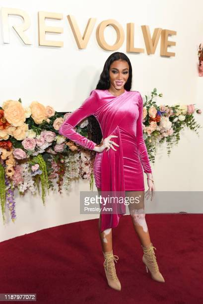 Winnie Harlow attends 3rd Annual #REVOLVEawards at Goya Studios on November 15, 2019 in Hollywood, California.