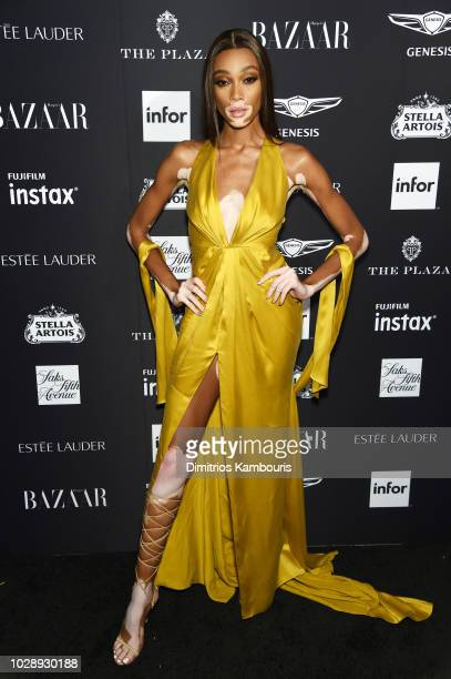 Winnie Harlow attends as Harper's BAZAAR Celebrates ICONS By Carine Roitfeld at the Plaza Hotel on September 7 2018 in New York City
