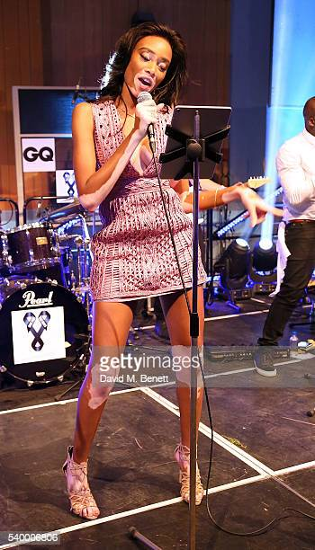 Winnie Harlow attends as Samuel L Jackson and Dylan Jones host a celebrity karaoke evening during London Collections Men SS17 at Abbey Road Studios...