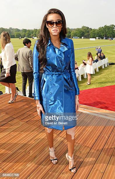 Winnie Harlow attends day one of the Audi Polo Challenge at Coworth Park on May 28 2016 in London England