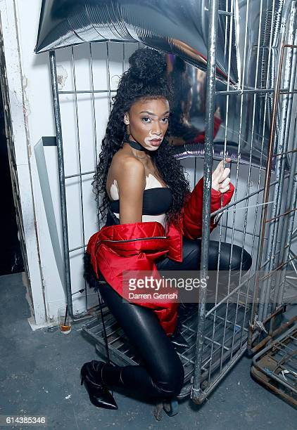 Winnie Harlow attends Dazed magazine's 25th birthday party in partnership with Calvin Klein at The Store Studios on October 13 2016 in London England