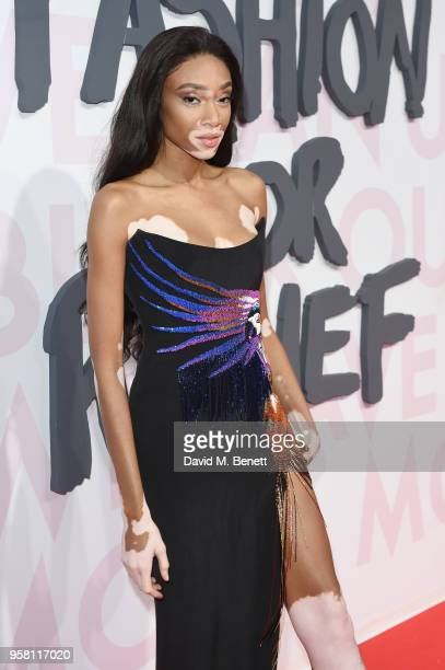 Winnie Harlow attends Fashion for Relief Cannes 2018 during the 71st annual Cannes Film Festival at Aeroport Cannes Mandelieu on May 13 2018 in...
