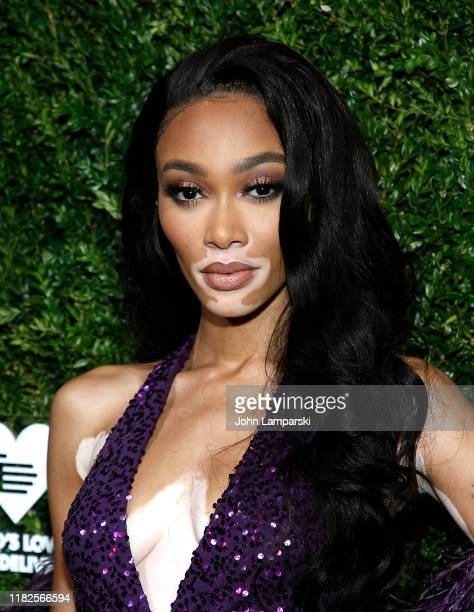 Winnie Harlow attends God's Love We Deliver 13th Annual Golden Heart Awards celebration at Cipriani South Street on October 21 2019 in New York City