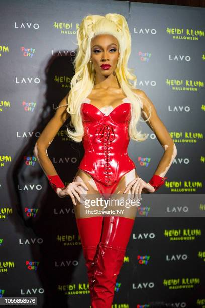 Winnie Harlow attends Heidi Klum's 19th Annual Halloween party at Lavo on October 31 2018 in New York City