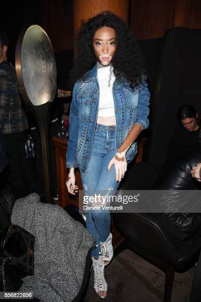Winnie Harlow attends MENE Collection Celebrations during Paris Fashion Week SS18 on October 2 2017 in Paris France