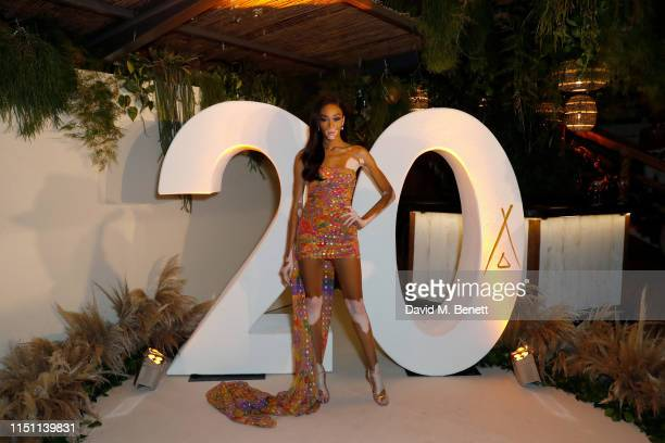 Winnie Harlow attends Nikki Beach for the 20th celebration during the 2019 Cannes International Film Festival on May 22 2019 in Cannes France