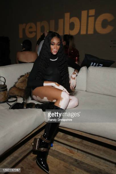 Winnie Harlow attends Republic Records Grammy After Party at 1 Hotel West Hollywood on January 26 2020 in West Hollywood California
