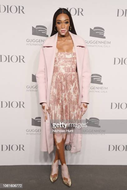 Winnie Harlow attends the 2018 Guggenheim International Gala PreParty made possible by Dior at Solomon R Guggenheim Museum on November 14 2018 in New...