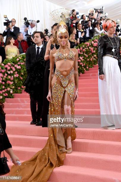 Winnie Harlow attends The 2019 Met Gala Celebrating Camp Notes on Fashion at Metropolitan Museum of Art on May 06 2019 in New York City
