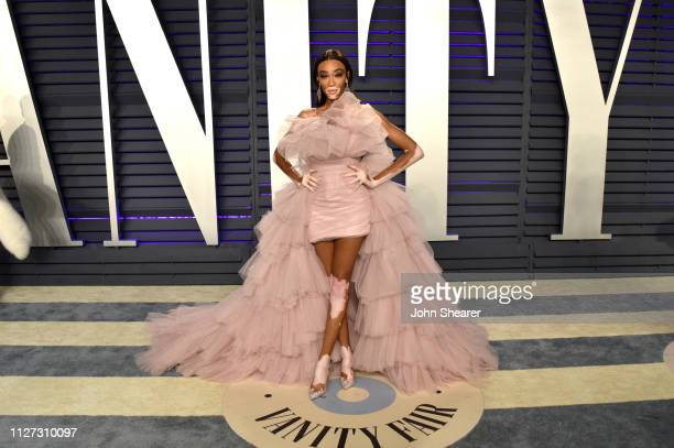 Winnie Harlow attends the 2019 Vanity Fair Oscar Party hosted by Radhika Jones at Wallis Annenberg Center for the Performing Arts on February 24,...