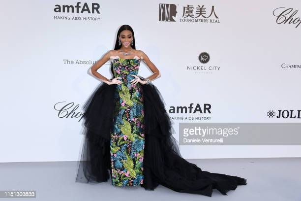 Winnie Harlow attends the amfAR Cannes Gala 2019 at Hotel du CapEdenRoc on May 23 2019 in Cap d'Antibes France