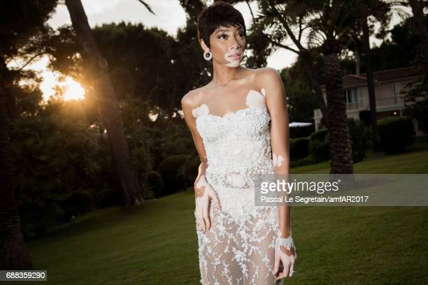 Winnie Harlow attends the amfAR Gala Cannes 2017 at Hotel du CapEdenRoc on May 25 2017 in Cap d'Antibes France