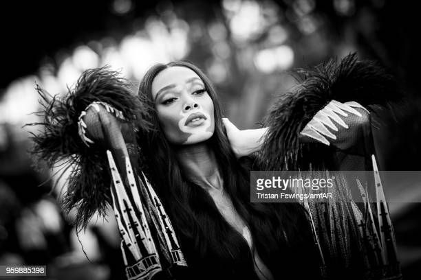 Winnie Harlow attends the amfAR Gala Cannes 2018 dinner at Hotel du CapEdenRoc on May 17 2018 in Cap d'Antibes France