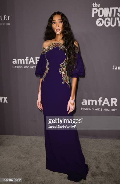 Winnie Harlow attends the amfAR New York Gala 2019 at Cipriani Wall Street on February 6 2019 in New York City