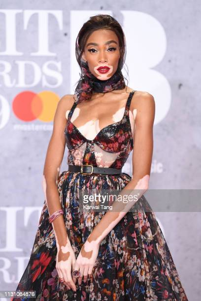 Winnie Harlow attends The BRIT Awards 2019 held at The O2 Arena on February 20 2019 in London England
