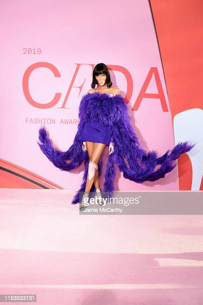 Winnie Harlow attends the CFDA Fashion Awards at the Brooklyn Museum of Art on June 03, 2019 in New York City.