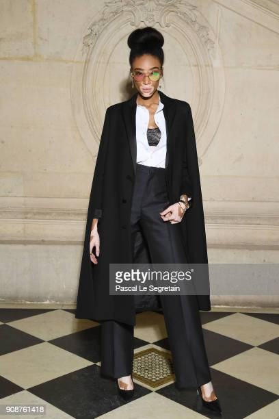Winnie Harlow attends the Christian Dior Haute Couture Spring Summer 2018 show as part of Paris Fashion Week on January 22 2018 in Paris France