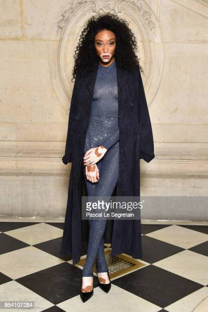 Winnie Harlow attends the Christian Dior show as part of the Paris Fashion Week Womenswear Spring/Summer 2018 on September 26 2017 in Paris France