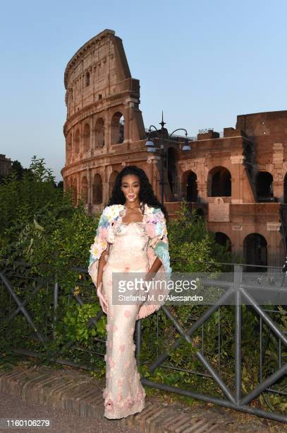 Winnie Harlow attends the Cocktail at Fendi Couture Fall Winter 2019/2020 on July 04 2019 in Rome Italy