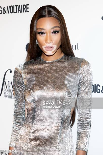 Winnie Harlow attends The Daily Front Row 6th Annual Fashion Media Awards at Park Hyatt New York on September 6 2018 in New York City