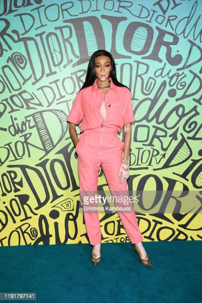 Winnie Harlow attends the Dior Men's Fall 2020 Runway Show on December 03 2019 in Miami Florida