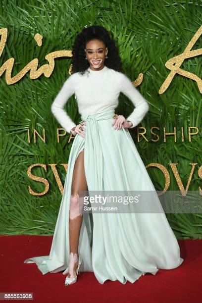 Winnie Harlow attends The Fashion Awards 2017 in partnership with Swarovski at Royal Albert Hall on December 4 2017 in London England