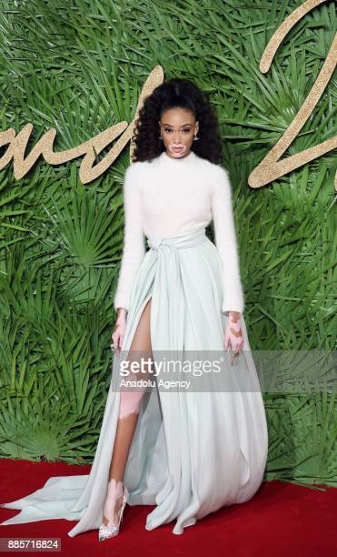 Winnie Harlow attends 'The Fashion Awards 2017' in partnership with Swarovski at Royal Albert Hall in London United Kingdom on December 4 2017