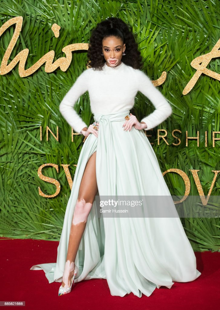 Winnie Harlow attends The Fashion Awards 2017 in partnership with Swarovski at Royal Albert Hall on December 4, 2017 in London, England.