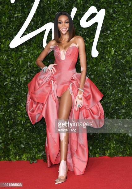 Winnie Harlow attends The Fashion Awards 2019 at the Royal Albert Hall on December 02, 2019 in London, England.