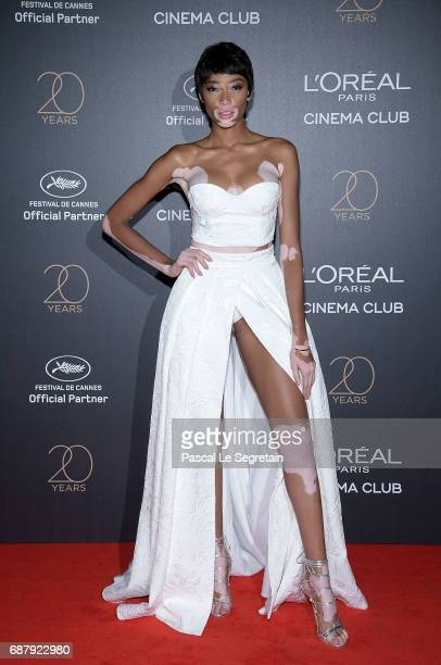 Winnie Harlow attends the Gala 20th Birthday Of L'Oreal In Cannes during the 70th annual Cannes Film Festival at Martinez Hotel on May 24 2017 in...