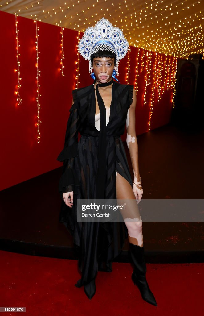 Winnie Harlow attends the gala dinner during #BoFVOICES on December 1, 2017 in Oxfordshire, England.
