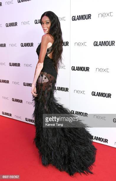 Winnie Harlow attends the Glamour Women of The Year Awards 2017 at Berkeley Square Gardens on June 6 2017 in London England