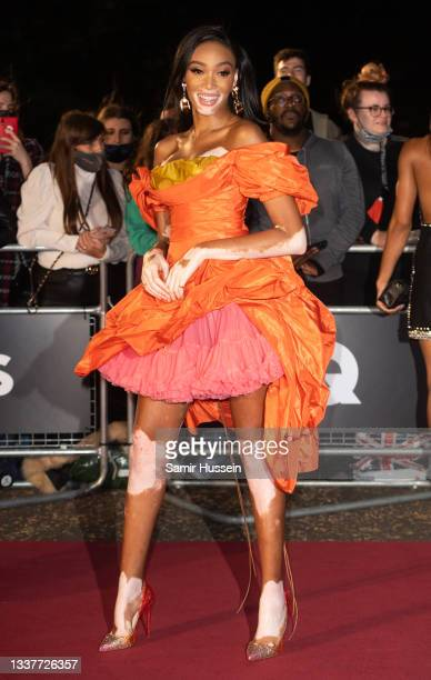 Winnie Harlow attends the GQ Men Of The Year Awards 2021 at Tate Modern on September 01, 2021 in London, England.