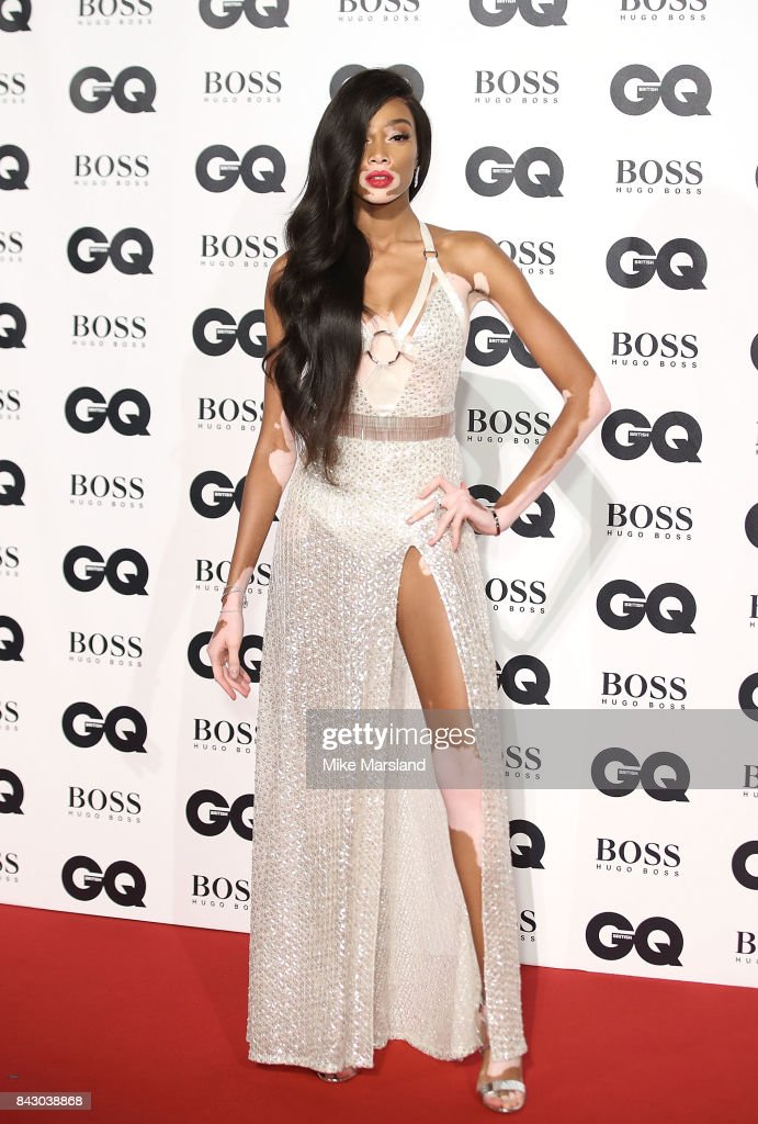 Winnie Harlow attends the GQ Men Of The Year Awards at Tate Modern on September 5, 2017 in London, England.