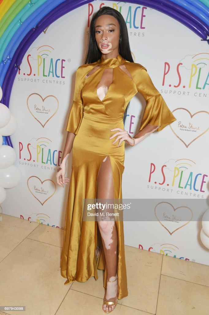 Winnie Harlow attends the inaugural fundraising dinner for The Petra Stunt Foundation in aid of PS Place at the Corinthia Hotel London on June 19, 2017 in London, England.