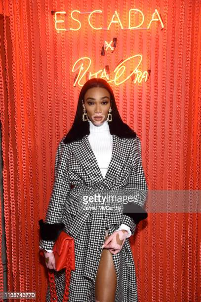 Winnie Harlow attends the launch of the ESCADA Heartbag by Rita Ora on March 27 2019 in New York City