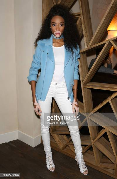 Winnie Harlow attends the launch of The Great Eight Guacamoles London's first Guacamoles and Tequila Bar at Cantina Laredo on October 11 2017 in...