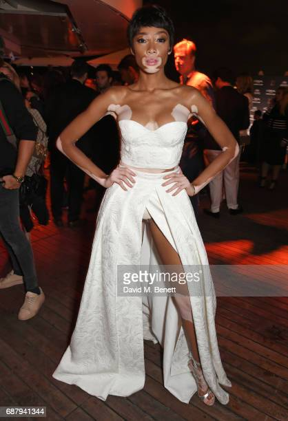 Winnie Harlow attends the L'Oreal Paris Cinema Club party celebrating L'Oreal's 20th anniversary as the official beauty partner of the Cannes Film...