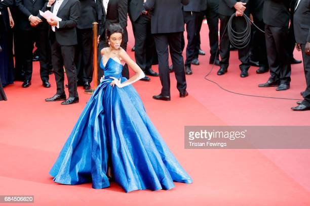 "Winnie Harlow attends the ""Loveless "" screening during the 70th annual Cannes Film Festival at Palais des Festivals on May 18, 2017 in Cannes, France."