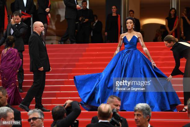 Winnie Harlow attends the 'Loveless ' screening during the 70th annual Cannes Film Festival at Palais des Festivals on May 18 2017 in Cannes France