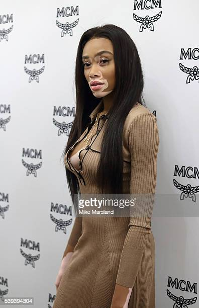 Winnie Harlow attends the MCM X Christopher Raeburn show during The London Collections Men SS17 at on June 11, 2016 in London, England.