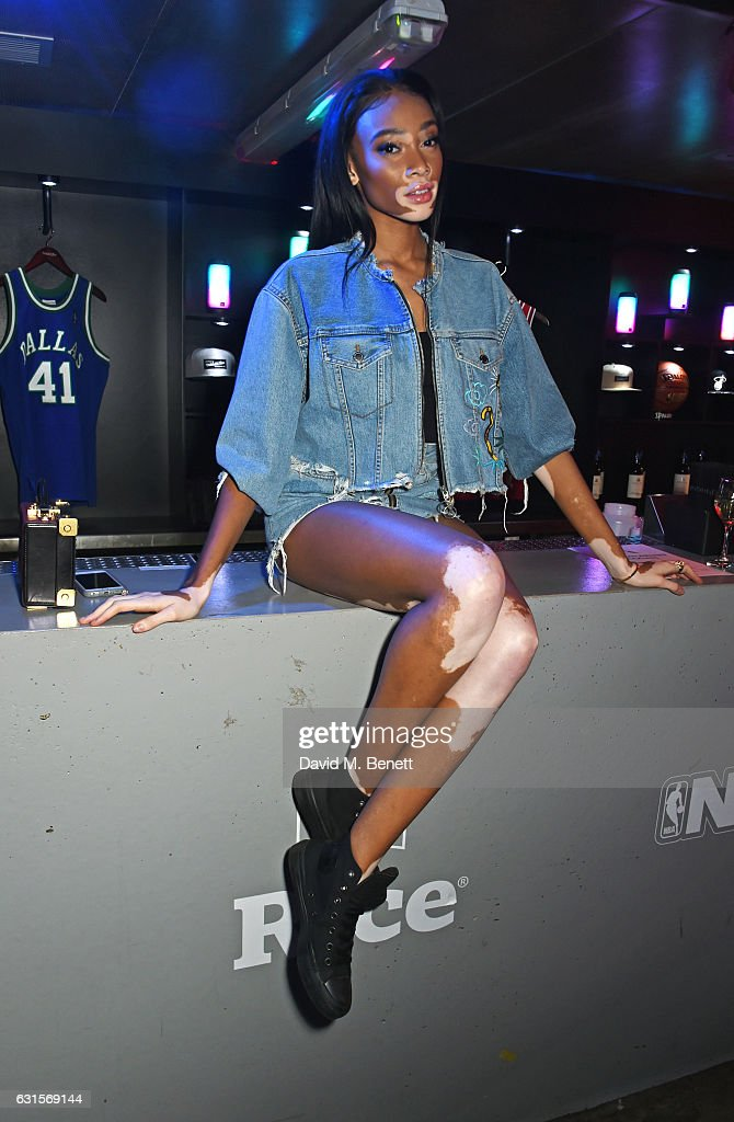 Winnie Harlow attends the NBA Global Game London 2017 after party at The O2 Arena on January 12, 2017 in London, England.