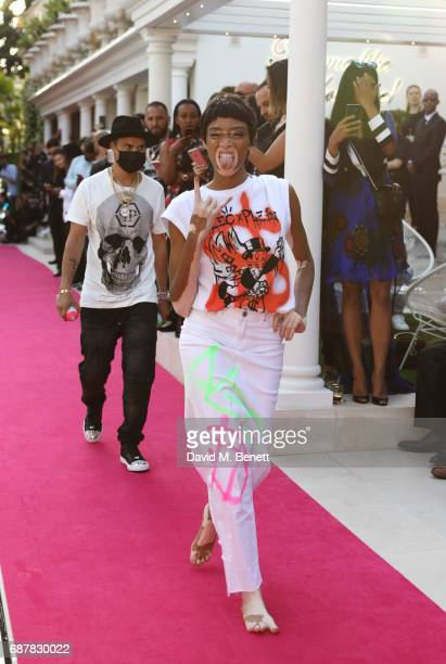 Winnie Harlow attends the Philipp Plein Cruise Show 2018 during the 70th annual Cannes Film Festival at on May 24 2017 in Cannes France