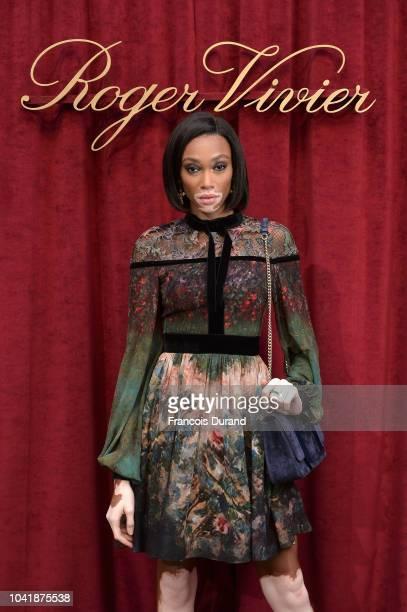 Winnie Harlow attends the Roger Vivier Presentation Spring/Summer 2019 during Paris Fashion Week on September 27 2018 in Paris France