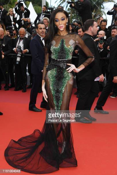Winnie Harlow attends the screening of Oh Mercy during the 72nd annual Cannes Film Festival on May 22 2019 in Cannes France