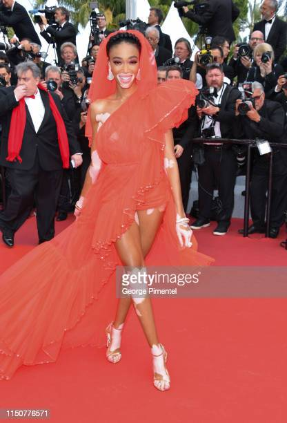 Winnie Harlow attends the screening of Once Upon A Time In Hollywood during the 72nd annual Cannes Film Festival on May 21 2019 in Cannes France