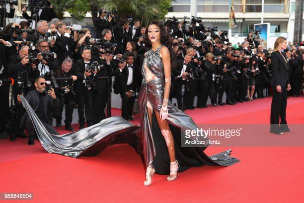 Winnie Harlow attends the screening of Solo A Star Wars Story during the 71st annual Cannes Film Festival at Palais des Festivals on May 15 2018 in...