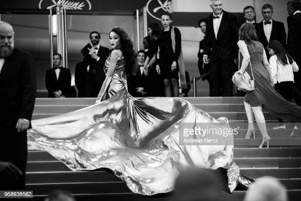 Winnie Harlow attends the screening of 'Solo A Star Wars Story' during the 71st annual Cannes Film Festival at Palais des Festivals on May 15 2018 in...